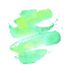 green watercolor brush stroke background vector image vector image