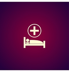 hospital bed Flat design style vector image vector image