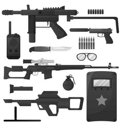 military weapon army special forces arms vector image