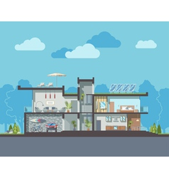 Modern house section vector image