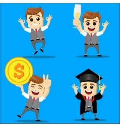 Set of businessman cartoon - vector image vector image
