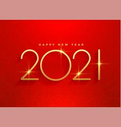 2021 golden happy new year red background design vector