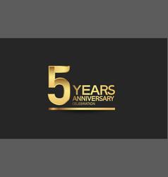 5 years anniversary celebration with elegant vector