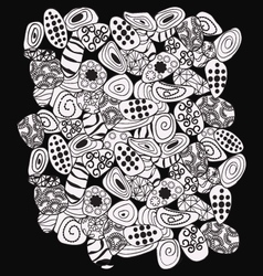 Abstract black and white with stones pattern vector