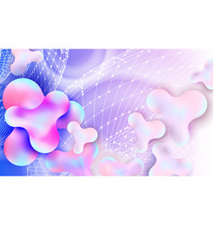 abstract liquid bubble color background vector image