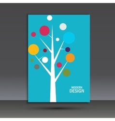 Abstract tree on the cover of brochure vector