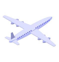 Airplane travel icon isometric style vector