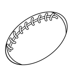 American football ball cartoon vector
