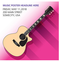An acoustic guitar background vector
