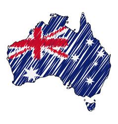 australia map hand drawn sketch concept vector image