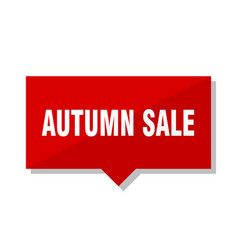 Autumn sale red tag vector