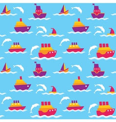 Background with boats vector