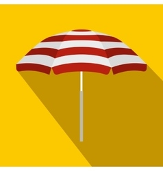 Beach umbrella icon flat style vector