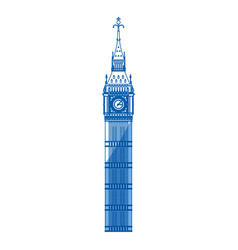 big ben clock vector image