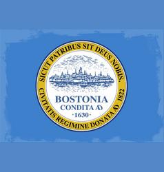 boston city flag vector image