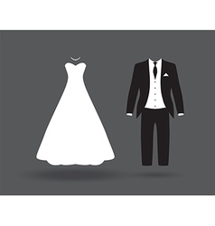 bride groom6bride and groom vector image