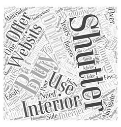 Buying Interior Shutters Online Word Cloud Concept vector