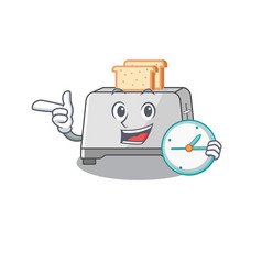 Cartoon character concept bread toaster having vector