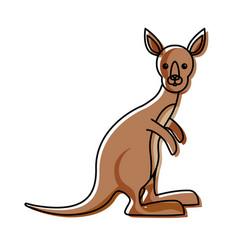 cartoon kangaroo icon vector image