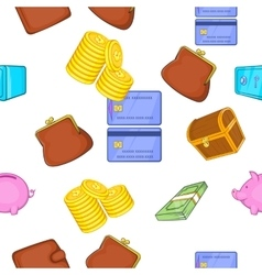 Cash pattern cartoon style vector