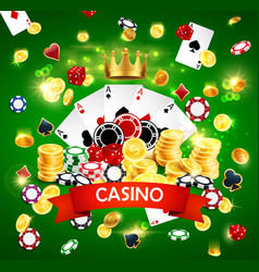 Casino poker jackpot wheel fortune gamble game vector