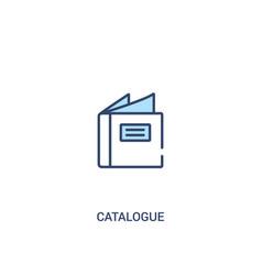 Catalogue concept 2 colored icon simple line vector