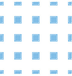 Chess board icon pattern seamless white background vector