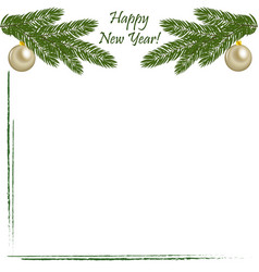 christmas background with greetings vector image