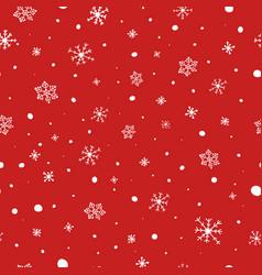 christmas seamless pattern white snowflakes on vector image