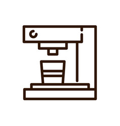 coffee maker machine preparation line design vector image