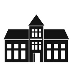 College building icon simple style vector