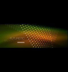 digital flowing wave particles abstract background vector image