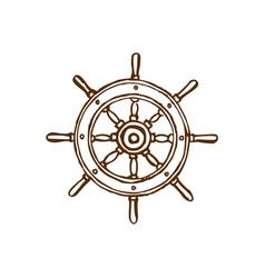 drawn of wheel in marine vector image
