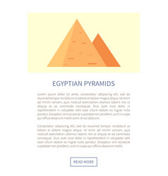 Egyptian pyramids web page vector