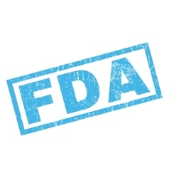 FDA Rubber Stamp vector
