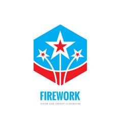 firework - logo template concept vector image
