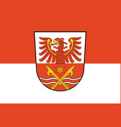 Flag of markisch-oderland in brandenburg germany vector