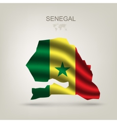 Flag of Senegal as the country vector