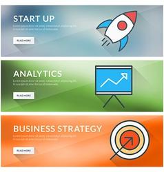 Flat design concept for start up analytics vector