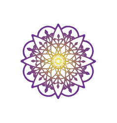 Flower mandala ornament icon logo design vector