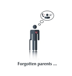 Forgotten parents vector