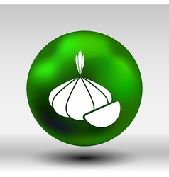 Garlic agriculture food healthy icon isolated line vector image