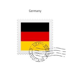 Germany flag postage stamp vector