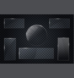 glass transparent banners set glass vector image