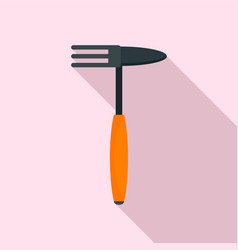 hand rake tool icon flat style vector image