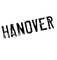 Hanover stamp rubber grunge vector