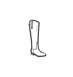 high boot hand drawn outline doodle icon vector image