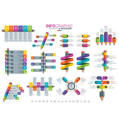 infographic elements - education vector image