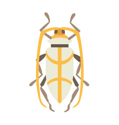 insect flat style design icons nature vector image