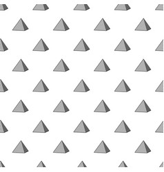 Louvre pyramid pattern seamless vector